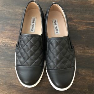 Quilted leather upper sneakers